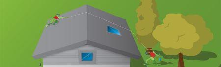 Veilig werken op hellende daken